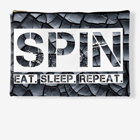 Spin Eat Sleep Repeat Black Crackle Standard T-Shirt Front