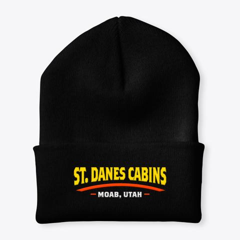 St Dane's Skull Cap Black T-Shirt Front