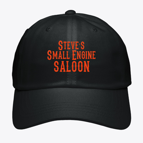 Steve's Small Engine Saloon Black T-Shirt Front