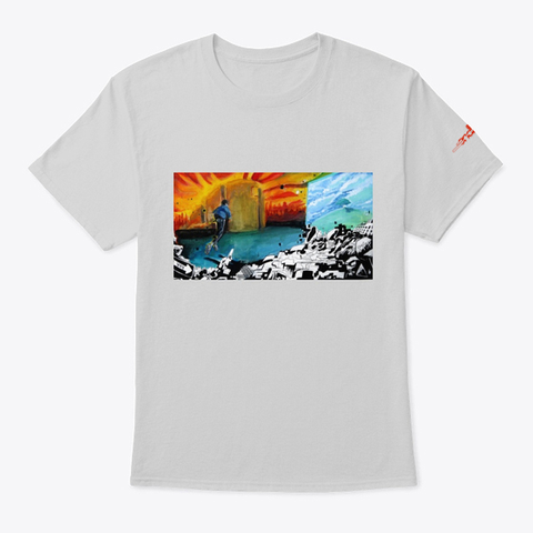"""""""Endlessly""""   Tee Light Steel T-Shirt Front"""