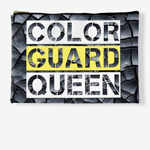 Color Guard Queen Black Crackle Collection Standard T-Shirt Front