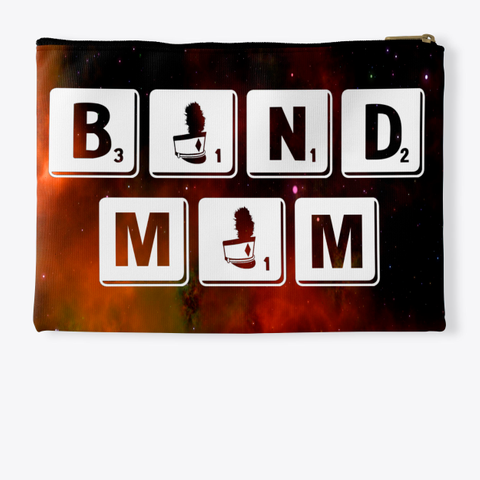 Band Mom Scrabble   Universe Collection Standard T-Shirt Back