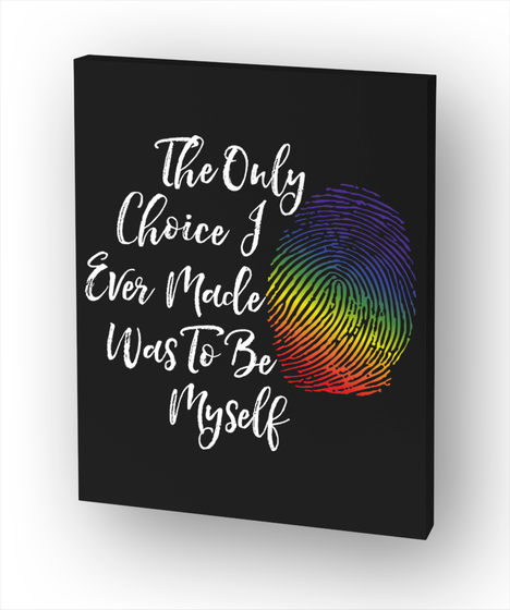 The Only Choice Of Ever Made Was To Be Myself White T-Shirt Front