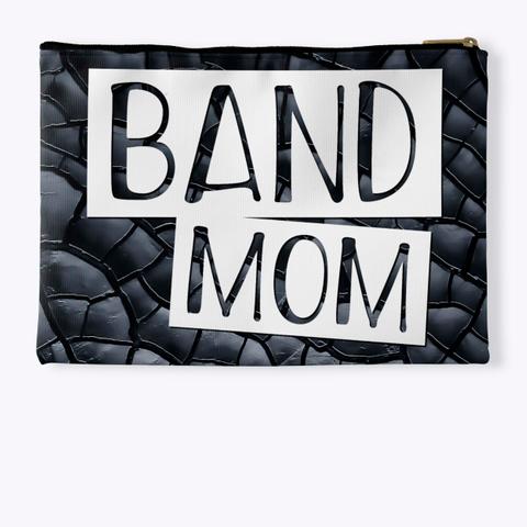 Band Mom   Black Crackle Collection Standard T-Shirt Back