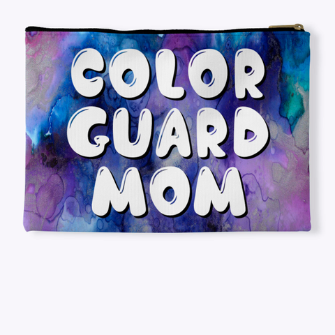 Color Guard Mom   Purple Collection Standard T-Shirt Back