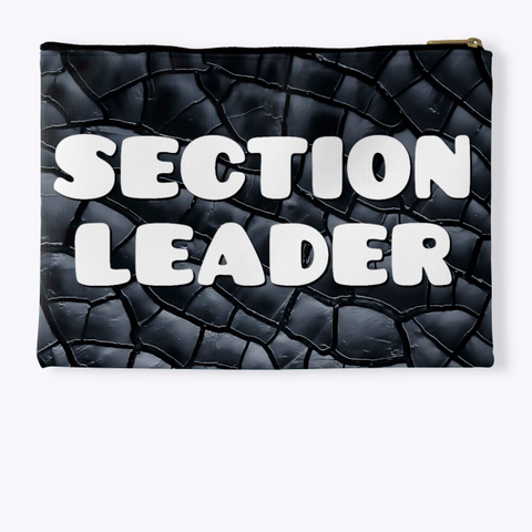 Section Leader Black Crackle Collection Standard T-Shirt Back
