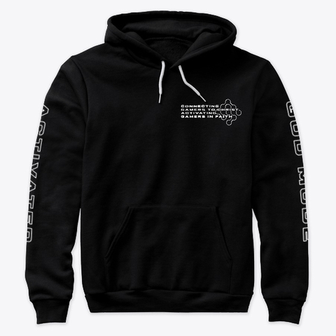 God Mode Activated Mission Hoodie Black T-Shirt Front