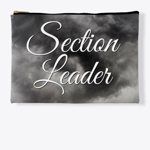 Section Leader (Cursive)   Black Cloud Collection Standard T-Shirt Front