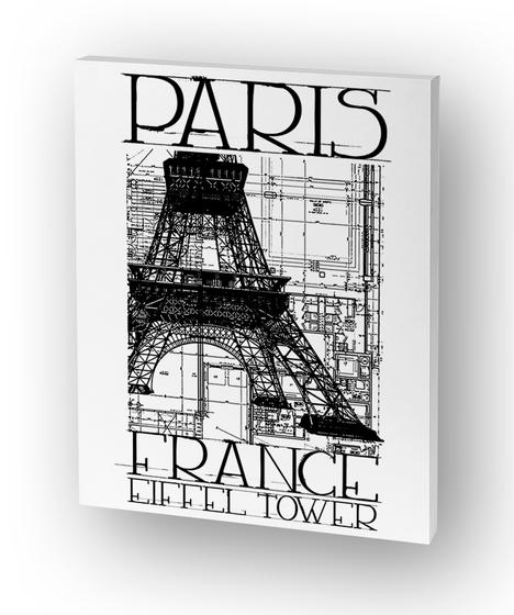 Paris France Eiffel Tower Canvas  Standard T-Shirt Front