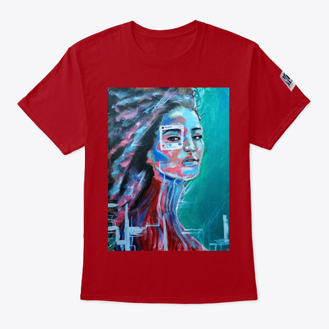 """""""You Are Not The Photo""""   Tee Deep Red T-Shirt Front"""