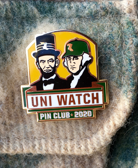 Uni Watch Pin Club*2020 Standard T-Shirt Front
