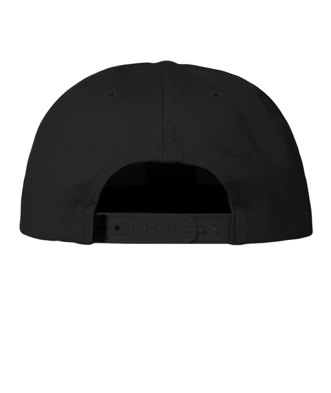 American Flag Flexfit Hat Black T-Shirt Back