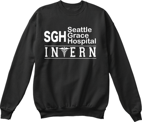 Sgh Seattle Grace Hospital Invern Black Sweatshirt Front