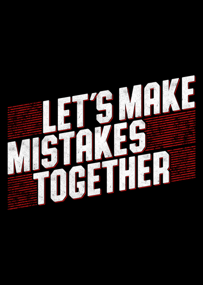 Let's Make Mistakes Together Navy T-Shirt Back