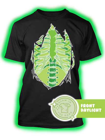Glow In The Dark Black T-Shirt Front