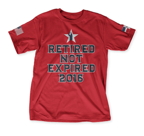 Retired Not Expired 2016 Classic Red T-Shirt Front