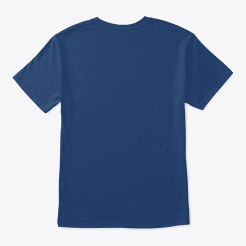 "Marble Machine X ""I Believe""   Blueprint Organic Tee   Navy (Us) Pacific Blue T-Shirt Back"