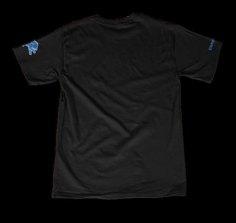 +2 Color  Sleeve Black T-Shirt Back