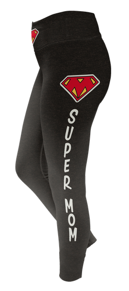 Super Mom Custom Legging T-Shirt Front