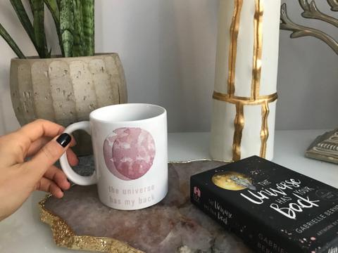 Pink Moon Mug White Mug Back
