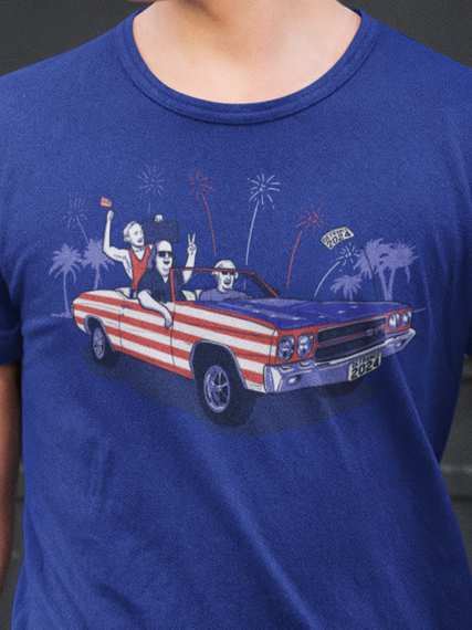 Founding Fathers  Midnight Navy T-Shirt Front