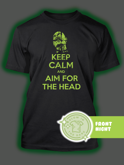 Keep Calm And Aim For The Head Black T-Shirt Back