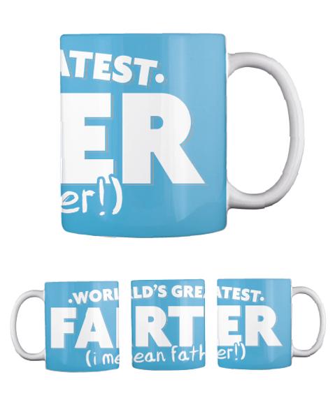 Farter Mug Turquoise Mug Back