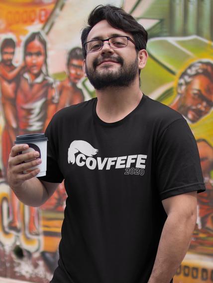 Covfefe 2020 Navy T-Shirt Front