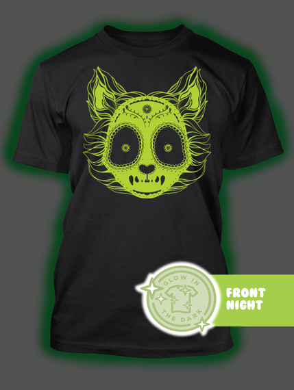 Front Night Black T-Shirt Back