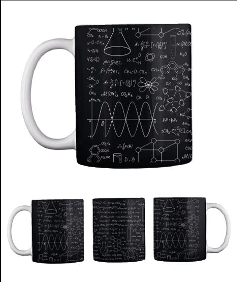 Chemistry Mug   Limited Edition Black Mug Front