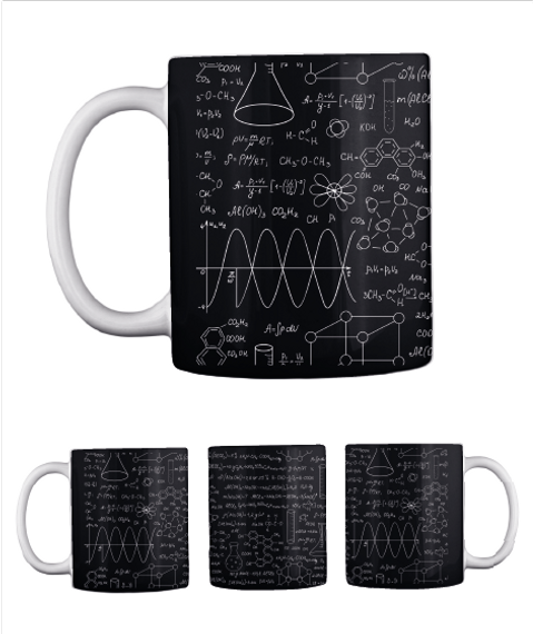 Chemistry Mug   Limited Edition Black Mug Front