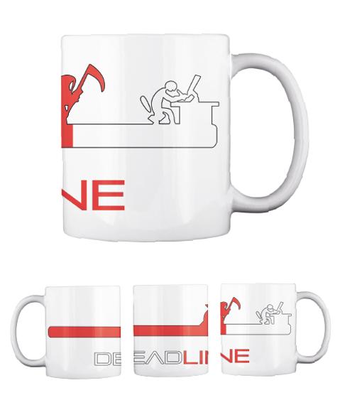 Ne Deadline White Mug Front