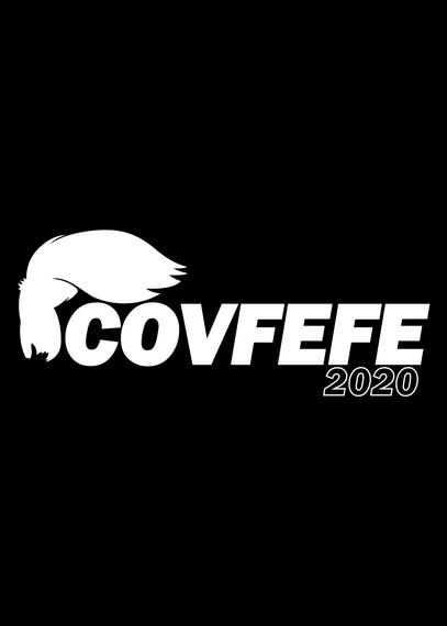 Covfefe 2020 Navy T-Shirt Back