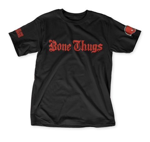 Bone Thugs Cleveland 216 Black T-Shirt Front