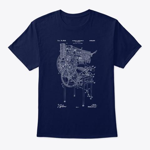 "Marble Machine X ""I Believe""   Blueprint Organic Tee   Navy & Black (Eu) Navy T-Shirt Front"