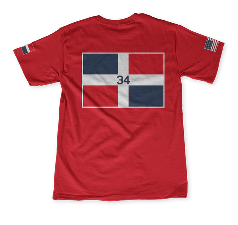 34 Classic Red T-Shirt Back