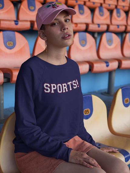 Sports! Navy  Sweatshirt Front