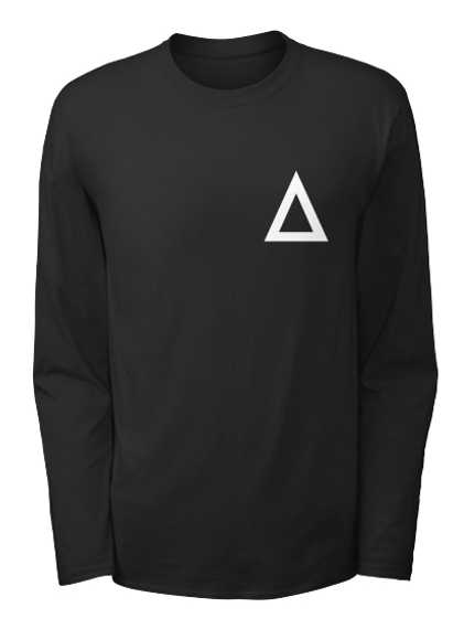 Official Delta Heavy Triangle Long Sleeve   Us Black Long Sleeve T-Shirt Front