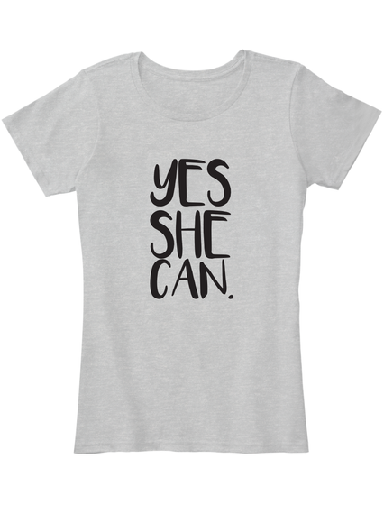 """""""Yes She Can"""" For Rosa Uk Sport Grey Women's T-Shirt Front"""