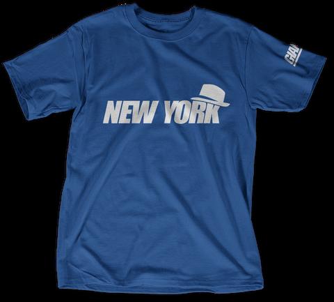 New York Deep Royal T-Shirt Front
