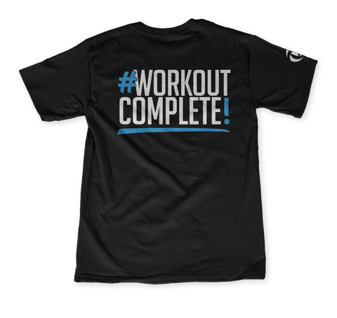 #Workout Complete Black T-Shirt Back
