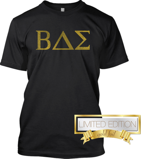 Bae Limited Edition Gold Foil  Black T-Shirt Front
