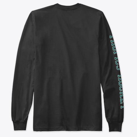 Tropics Hockey Sleeve Print Black Long Sleeve T-Shirt Back