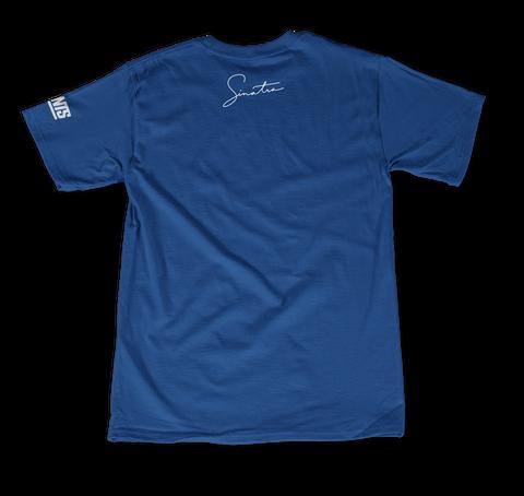 +1 Color Sleeve Deep Royal T-Shirt Back