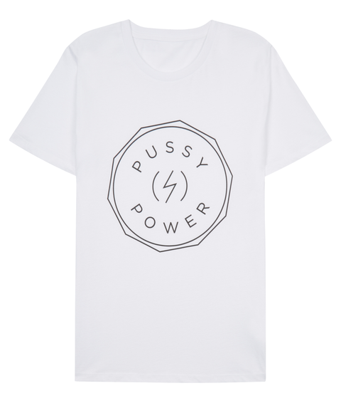Pussy S Power White T-Shirt Front