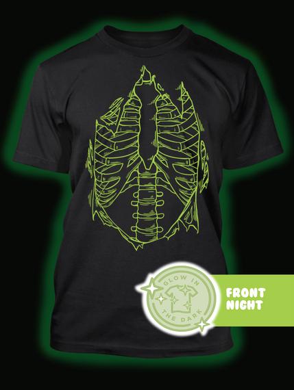 Front Night Black T-Shirt Back