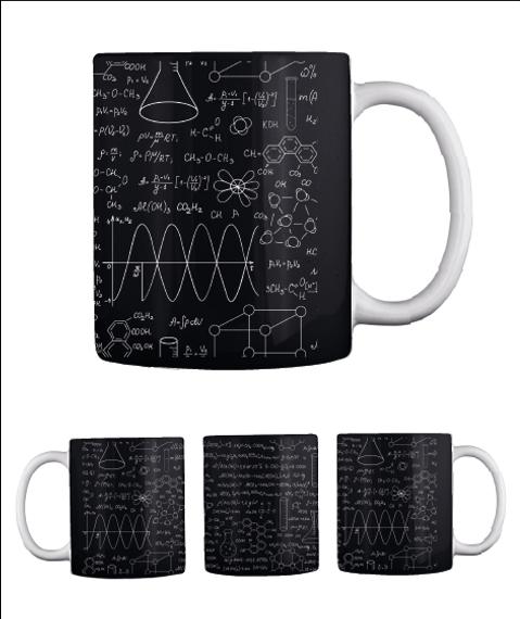 Chemistry Mug   Limited Edition Black Mug Back