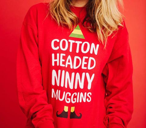 Ninny Muggins Deep Red  Sweatshirt Back