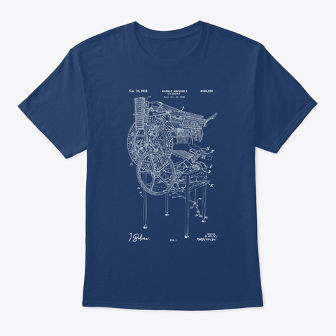 "Marble Machine X ""I Believe""   Blueprint Organic Tee   Navy (Us) Pacific Blue T-Shirt Front"
