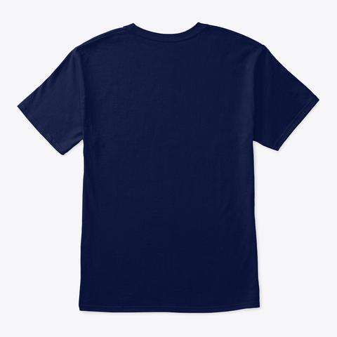 "Marble Machine X ""I Believe""   Blueprint Organic Tee   Navy & Black (Eu) Navy T-Shirt Back"